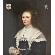 Portrait einer Adeligen, Niederlande 17. Jahrhundert