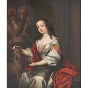 Constantin Netscher (1668-1723), Vornehme Dame mit Hund, Anfang 18. Jahrhundert
