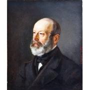 Mandel (sig.), Portrait eines Herren, dat. 1870
