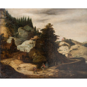 Landschaftsgemälde, Joos de Momper (1564-1635, zugeschr.)