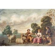 Schäferszene, wohl Niederlande 18. Jahrhundert