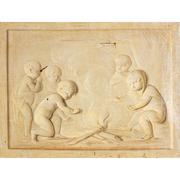 Grisaille, Putti am Lagerfeuer, Nachfolger Jacob de Wit, wohl Niederlande 18. Jahrhundert