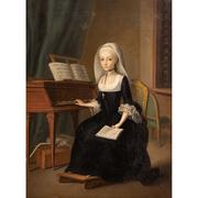 Junge Witwe am Klavier, 2. Hälfte 18. Jahrhundert