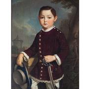 Georg Wilhelm Wanderer (1804-1863), Portrait eines Knaben, Nürnberg 1836
