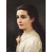 Mädchenportrait, monogr. KP, 19. Jahrhundert