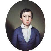 Biedermeier Knabenportrait, sig. Müller, datiert 1850