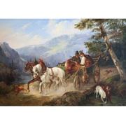 Alois Bach, Rückkehr von der Jagd, dat. 1851