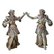 Barockes Engelspaar, süddeutsch, 17. Jahrhundert