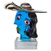 Murano Glasskulptur 'Omaggio a Picasso' von Walter Furlan