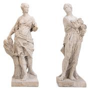 Barockskulpturen Sommer und Herbst, 18. Jahrhundert