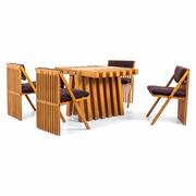 """Tito Pinori, """"Millepiedi"""" Tisch und Stühle, Italien Mitte 20. Jahrhundert"""