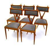 Esszimmerstühle im Stil von Gianni Vigorelli, Italien 1950er