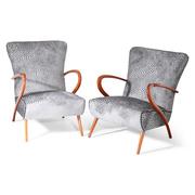 Lounge Sessel im Stil von Guglielmo Ulrich, Italien, Mitte 20. Jahrhundert