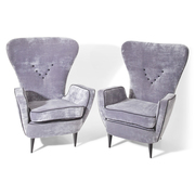 Lounge Sessel, attr. Paolo Buffa, Italien Mitte 20. Jahrhundert