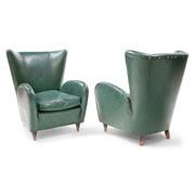 Lounge Sessel, attr. Paolo Buffa, Italien 1950er