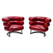 Rote Sessel, Italien 20. Jahrhundert