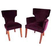 Mid-Century Sessel und Stuhl, Frankreich