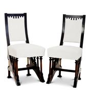 Jugendstil Stühle im Stil Carlo Bugattis, Italien 1. H. 20. Jhd.