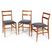 Gio Ponti 'Leggera' Stühle, Italien 50er Jahre