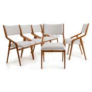 Sechs Stühle attr. Mario Gottardi, Italien Mitte 20. Jahrhundert