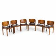 Vico Magistretti Stühle, Modell 122, Cassina, Italien 1960er Jahre