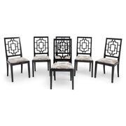 Esszimmerstühle im asiatischen Stil, 1970er Jahre
