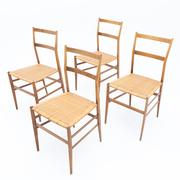 Gio Ponti 'Superleggera' Stühle, Italien 1950er Jahre
