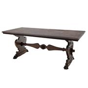 Massivholz Tisch im Renaissancestil, Italien, um 1900