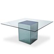 Quadratischer Esstisch 'Blok' von Nanda Vigo für Acerbis, Italien 1971