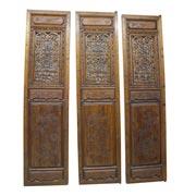 Drei chinesische Holztüren