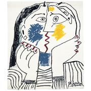 Picasso Wandteppich - Der Kuss