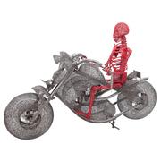 Skulptur Ghost Rider von Anacleto Spazzapan, Italien 2010