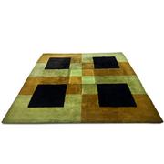 Quadratischer Teppich, wohl Italien 70er Jahre