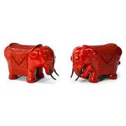 Chinesische Elefanten als Hocker, 20. Jahrhundert