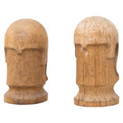 Holzköpfe, wohl Italien 20. Jahrhundert