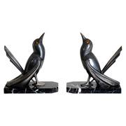 Art Deco Vogel Buchstützen von Franjou, Frankreich 1940er Jahre