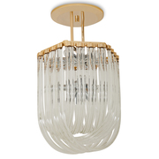 Venini Curved Glass Deckenlampe, Italien 1970er