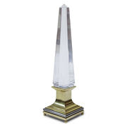 Lucite Obelisken Lampe von Sandro Petti für Maison Jansen, 1970er Jahre