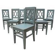 Holzstühle im Vintage-Chic