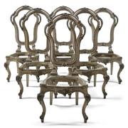 Barockstil Stühle, Italien 19./20. Jahrhundert