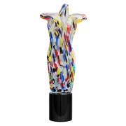 Glasskulptur weiblicher Torso, Murano, Italien 1980er