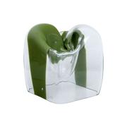 Skulpturale Murano Glas Vase von Carlo Nason für Mazzega, Italien 1974