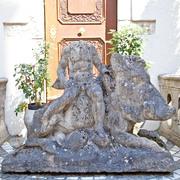 Sandstein Skulptur Wildschwein, 1750-1770