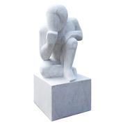 Der Denker – Marmorskulptur, 21. Jahrhundert