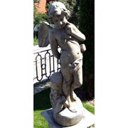 Gartenstatue Stehender Engel