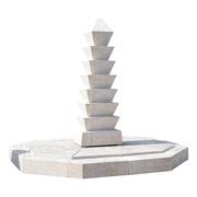 Moderner Stelen-Brunnen aus Marmor