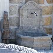 Wandbrunnen aus Marmor