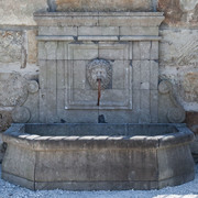 Wandbrunnen mit Mascaron, 21. Jahrhundert