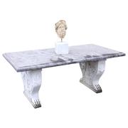 Steintisch mit Marmorfüßen im Empire Stil