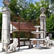 Hoftor mit Portal Säulen, Italien um 1800